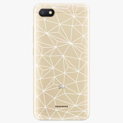 Silikonové pouzdro iSaprio - Abstract Triangles 03 white na mobil Xiaomi Redmi 6A