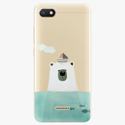 Silikonové pouzdro iSaprio - Bear With Boat na mobil Xiaomi Redmi 6A