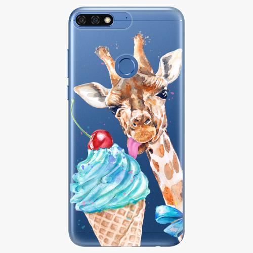 Silikonové pouzdro iSaprio - Love Ice Cream na mobil Honor 7C