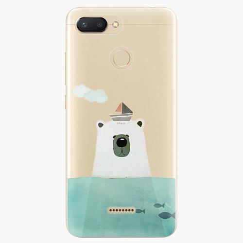 Silikonové pouzdro iSaprio - Bear With Boat na mobil Xiaomi Redmi 6