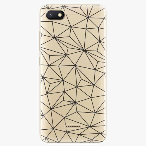 Silikonové pouzdro iSaprio - Abstract Triangles 03 black na mobil Xiaomi Redmi 6A