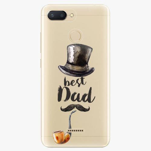 Silikonové pouzdro iSaprio - Best Dad na mobil Xiaomi Redmi 6