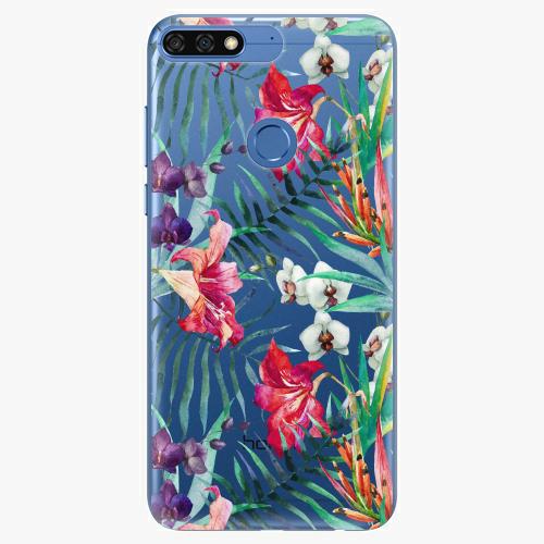 Silikonové pouzdro iSaprio - Flower Pattern 03 na mobil Honor 7C