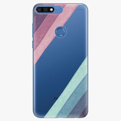 Silikonové pouzdro iSaprio - Glitter Stripes 01 na mobil Honor 7C