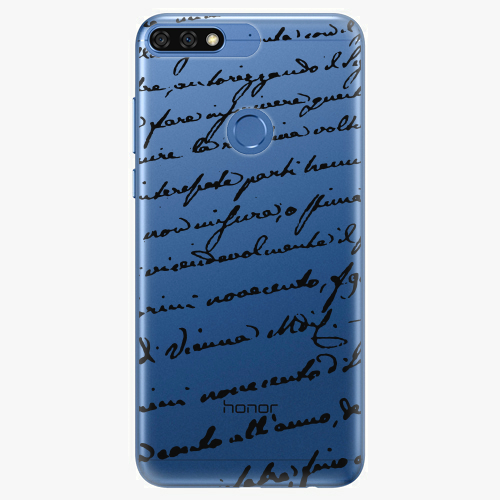 Silikonové pouzdro iSaprio - Handwriting 01 black na mobil Honor 7C