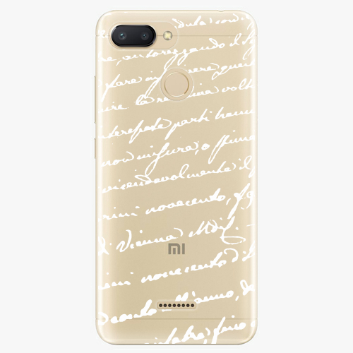 Silikonové pouzdro iSaprio - Handwriting 01 white na mobil Xiaomi Redmi 6