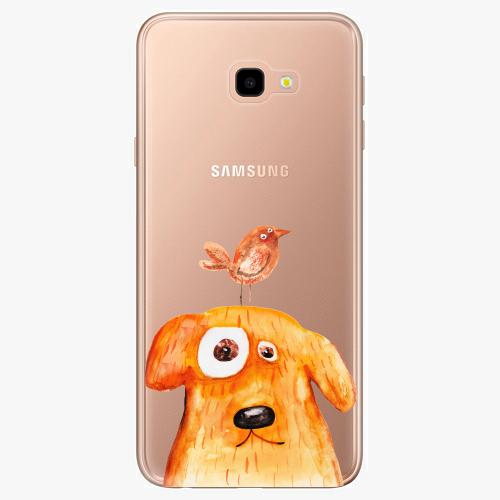 Silikonové pouzdro iSaprio - Dog And Bird na mobil Samsung Galaxy J4 Plus