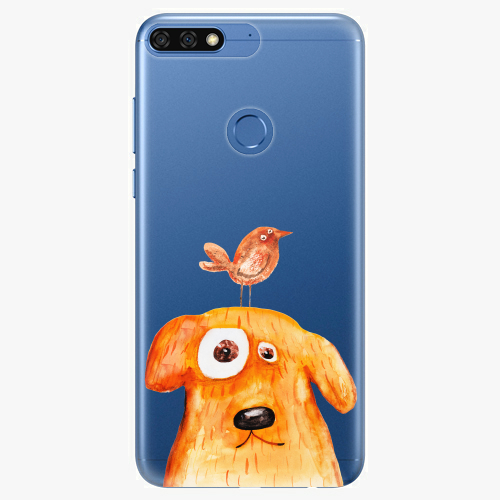 Silikonové pouzdro iSaprio - Dog And Bird na mobil Honor 7C