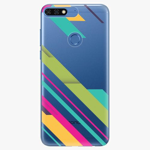 Silikonové pouzdro iSaprio - Color Stripes 03 na mobil Honor 7C