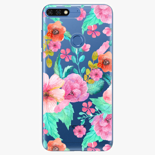 Silikonové pouzdro iSaprio - Flower Pattern 01 na mobil Honor 7C
