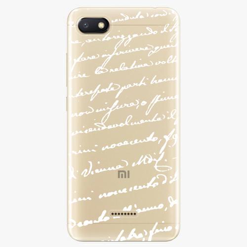 Silikonové pouzdro iSaprio - Handwriting 01 white na mobil Xiaomi Redmi 6A