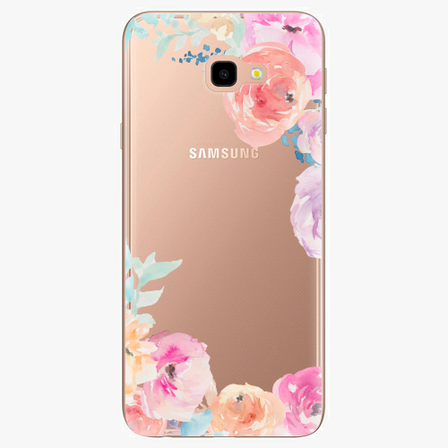 Silikonové pouzdro iSaprio - Flower Brush na mobil Samsung Galaxy J4 Plus