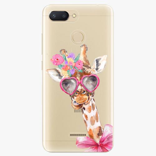 Silikonové pouzdro iSaprio - Lady Giraffe na mobil Xiaomi Redmi 6