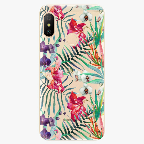 Silikonové pouzdro iSaprio - Flower Pattern 03 na mobil Xiaomi Mi A2 Lite