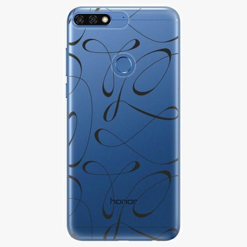 Silikonové pouzdro iSaprio - Fancy black na mobil Honor 7C