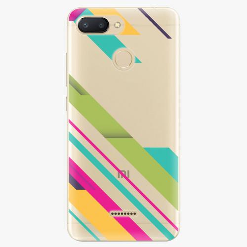 Silikonové pouzdro iSaprio - Color Stripes 03 na mobil Xiaomi Redmi 6