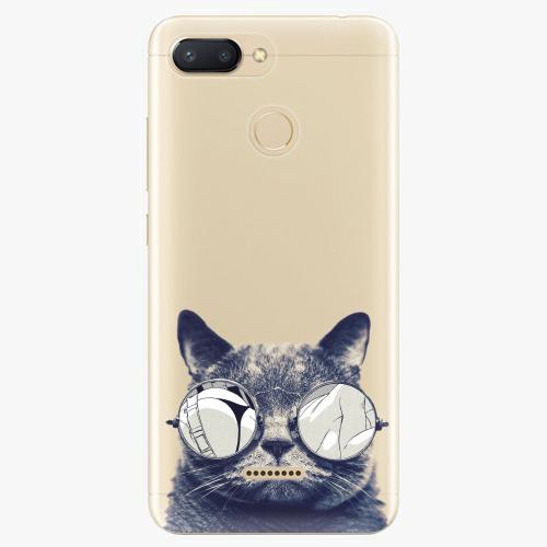 Silikonové pouzdro iSaprio - Crazy Cat 01 na mobil Xiaomi Redmi 6