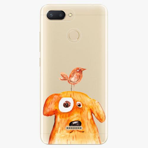 Silikonové pouzdro iSaprio - Dog And Bird na mobil Xiaomi Redmi 6