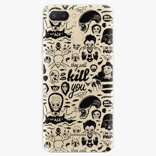 Silikonové pouzdro iSaprio - Comics 01 black na mobil Xiaomi Redmi 6