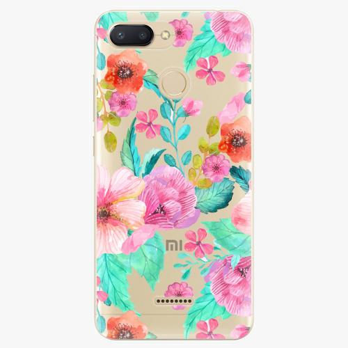 Silikonové pouzdro iSaprio - Flower Pattern 01 na mobil Xiaomi Redmi 6