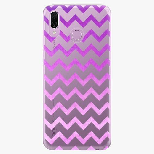 Silikonové pouzdro iSaprio - Zigzag purple na mobil Honor Play