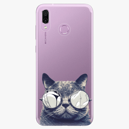 Silikonové pouzdro iSaprio - Crazy Cat 01 na mobil Honor Play