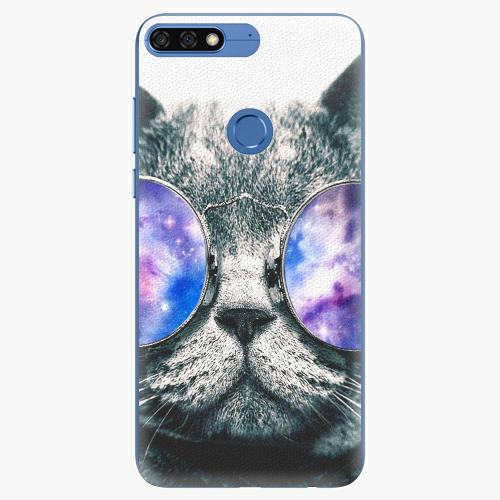 Silikonové pouzdro iSaprio - Galaxy Cat na mobil Honor 7C