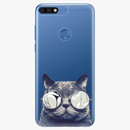 Silikonové pouzdro iSaprio - Crazy Cat 01 na mobil Honor 7C