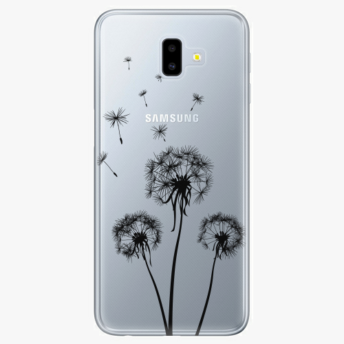 Silikonové pouzdro iSaprio - Three Dandelions black na mobil Samsung Galaxy J6 Plus