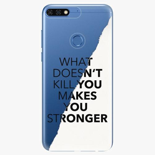 Silikonové pouzdro iSaprio - Makes You Stronger na mobil Honor 7C