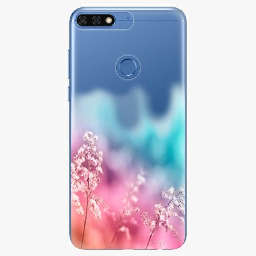 Silikonové pouzdro iSaprio - Rainbow Grass na mobil Honor 7C