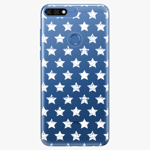 Silikonové pouzdro iSaprio - Stars Pattern white na mobil Honor 7C