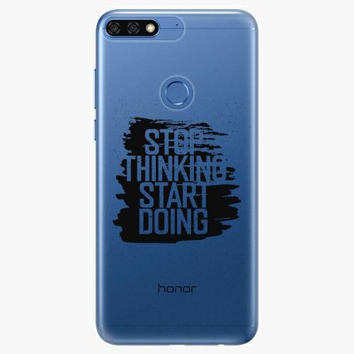 Silikonové pouzdro iSaprio - Start Doing black na mobil Honor 7C