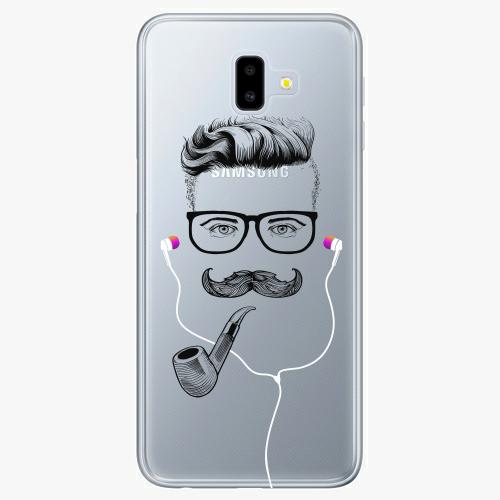 Silikonové pouzdro iSaprio - Man With Headphones 01 na mobil Samsung Galaxy J6 Plus