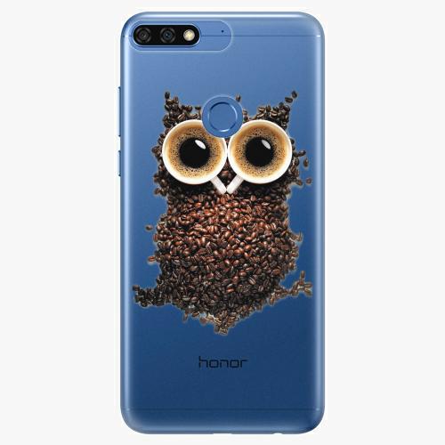 Silikonové pouzdro iSaprio - Owl And Coffee na mobil Honor 7C