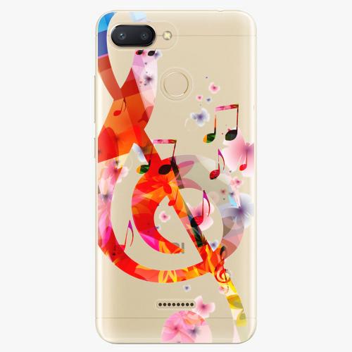 Silikonové pouzdro iSaprio - Music 01 na mobil Xiaomi Redmi 6