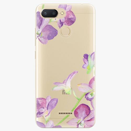 Silikonové pouzdro iSaprio - Purple Orchid na mobil Xiaomi Redmi 6