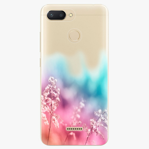 Silikonové pouzdro iSaprio - Rainbow Grass na mobil Xiaomi Redmi 6