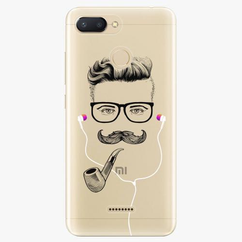 Silikonové pouzdro iSaprio - Man With Headphones 01 na mobil Xiaomi Redmi 6