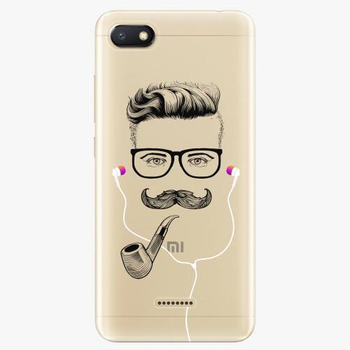 Silikonové pouzdro iSaprio - Man With Headphones 01 na mobil Xiaomi Redmi 6A