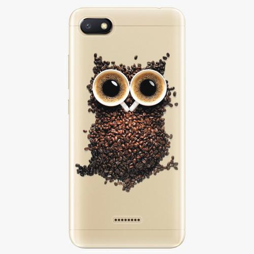 Silikonové pouzdro iSaprio - Owl And Coffee na mobil Xiaomi Redmi 6A