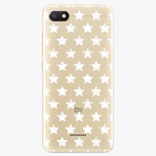 Silikonové pouzdro iSaprio - Stars Pattern white na mobil Xiaomi Redmi 6A