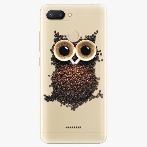 Silikonové pouzdro iSaprio - Owl And Coffee na mobil Xiaomi Redmi 6