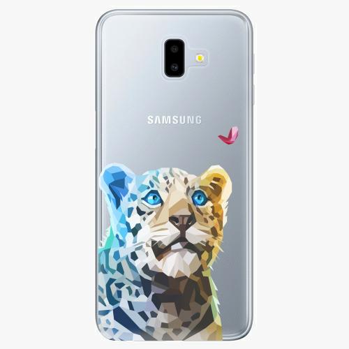 Silikonové pouzdro iSaprio - Leopard With Butterfly na mobil Samsung Galaxy J6 Plus