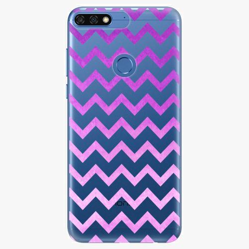 Silikonové pouzdro iSaprio - Zigzag purple na mobil Honor 7C