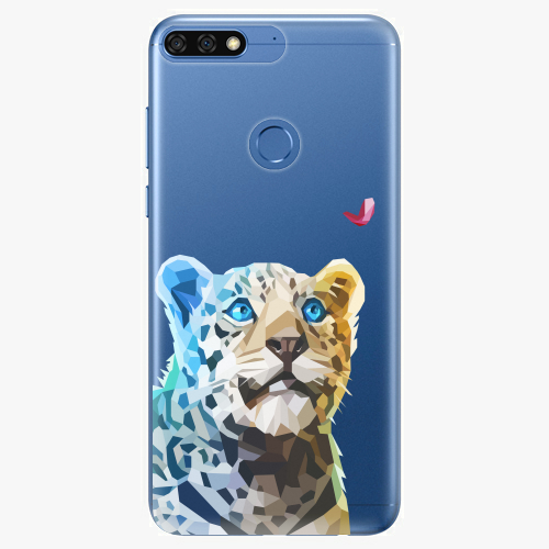 Silikonové pouzdro iSaprio - Leopard With Butterfly na mobil Honor 7C