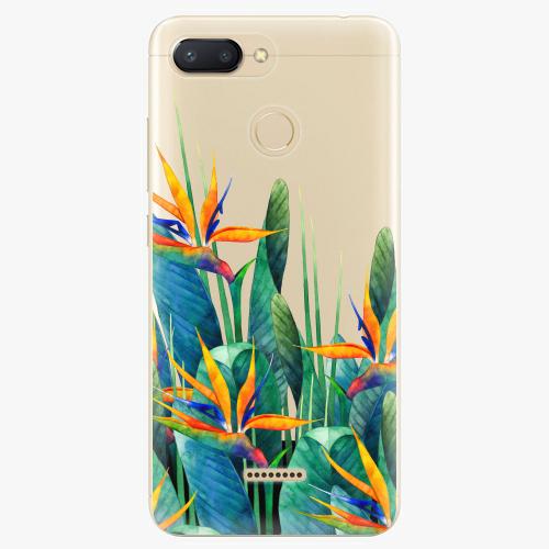 Silikonové pouzdro iSaprio - Exotic Flowers na mobil Xiaomi Redmi 6