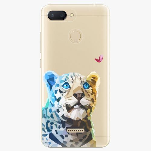 Silikonové pouzdro iSaprio - Leopard With Butterfly na mobil Xiaomi Redmi 6