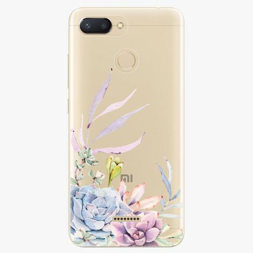 Silikonové pouzdro iSaprio - Succulent 01 na mobil Xiaomi Redmi 6