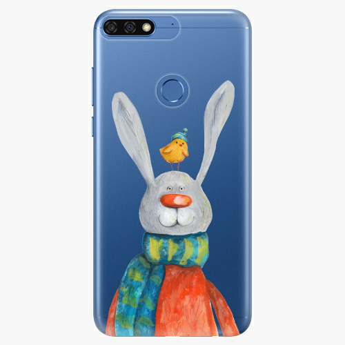 Silikonové pouzdro iSaprio - Rabbit And Bird na mobil Honor 7C